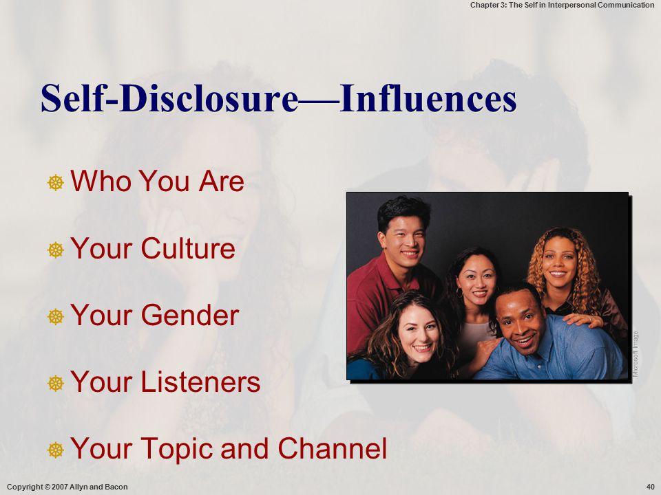 Self-Disclosure—Influences