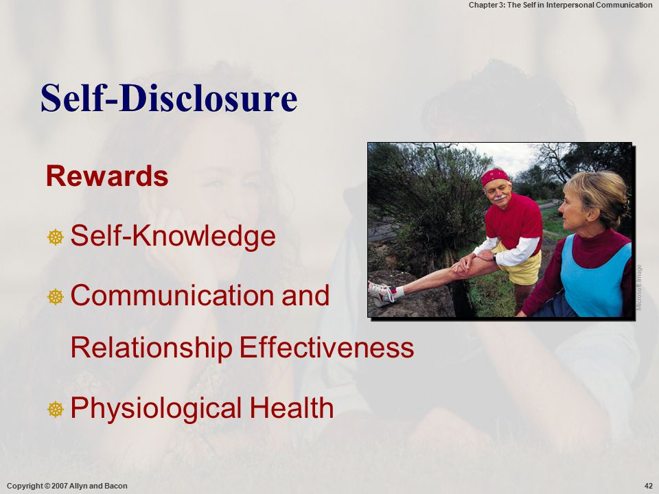 Self-Disclosure Rewards Self-Knowledge