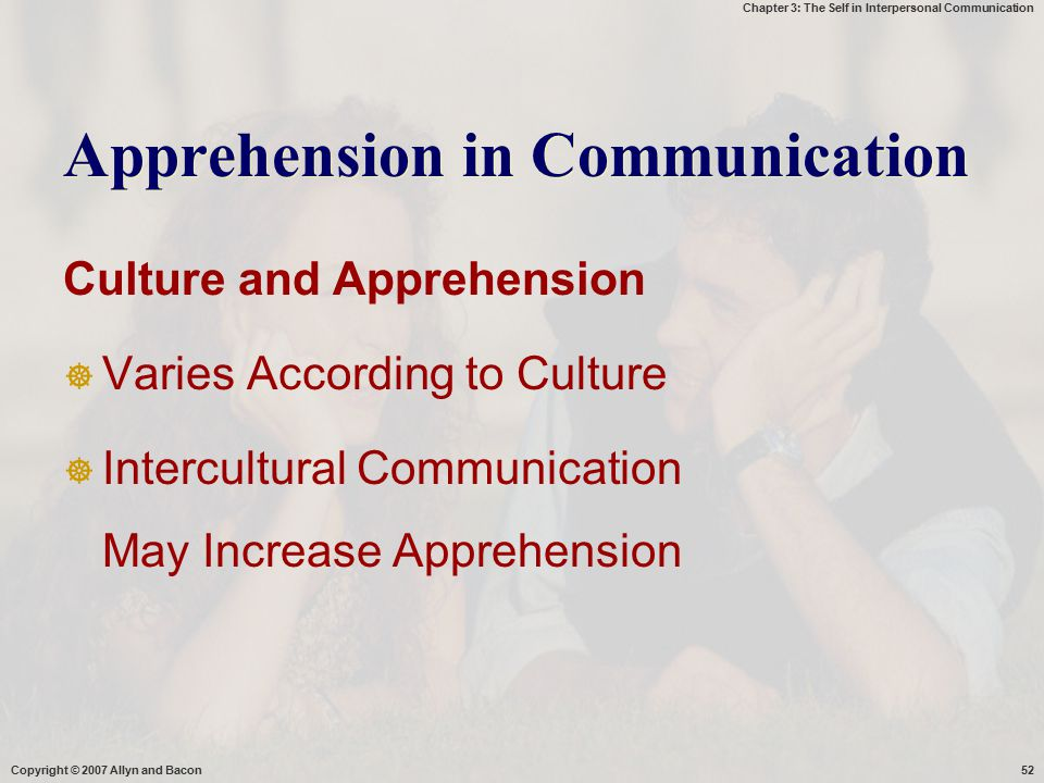 Apprehension in Communication