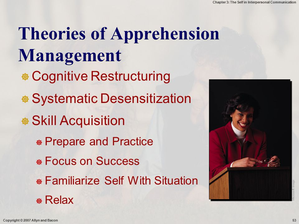 Theories of Apprehension Management