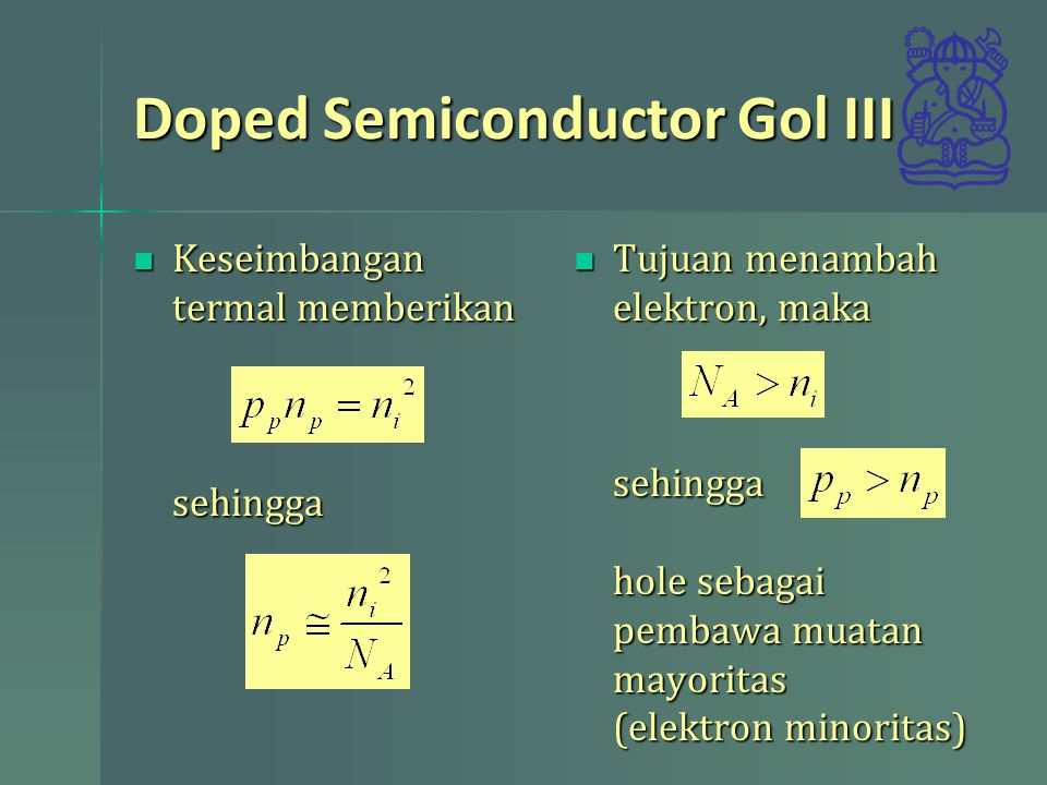 Doped Semiconductor Gol III