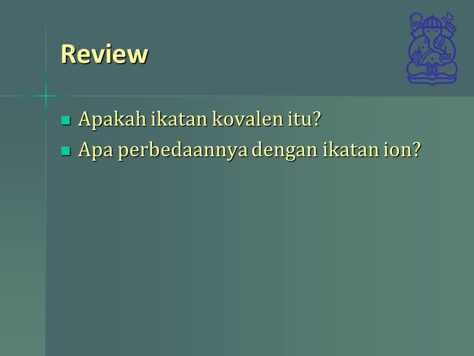 Review Apakah ikatan kovalen itu Apa perbedaannya dengan ikatan ion