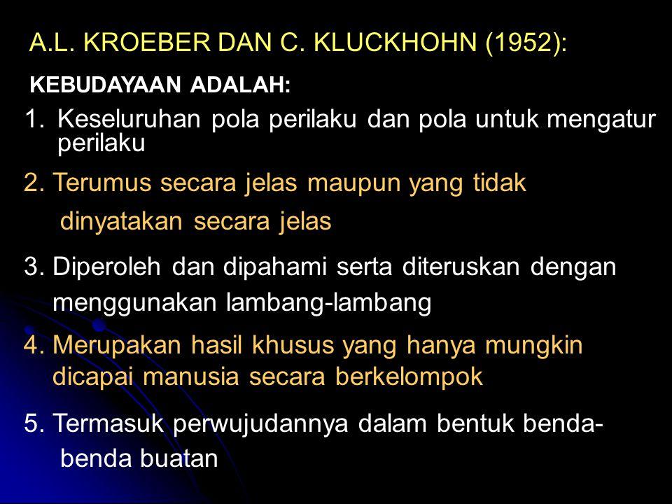 A.L. KROEBER DAN C. KLUCKHOHN (1952):