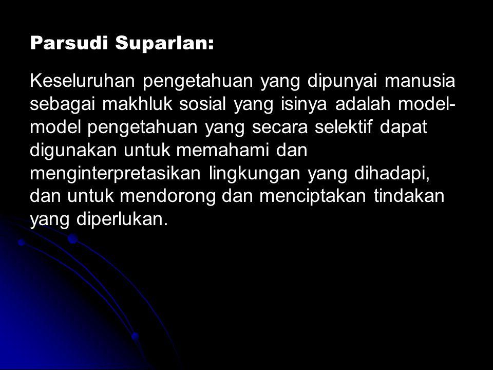 Parsudi Suparlan: