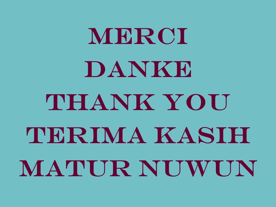 Merci DANKE THANK YOU Terima kasih MATUR NUWUN