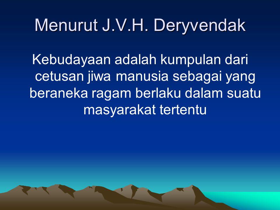 Menurut J.V.H. Deryvendak