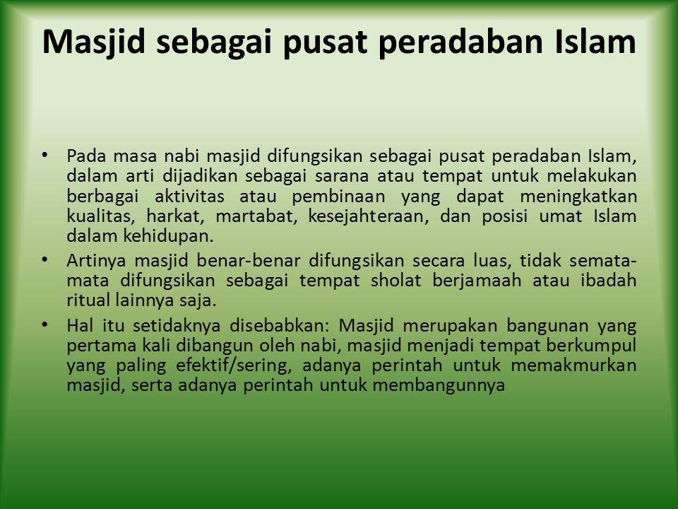 Masjid sebagai pusat peradaban Islam