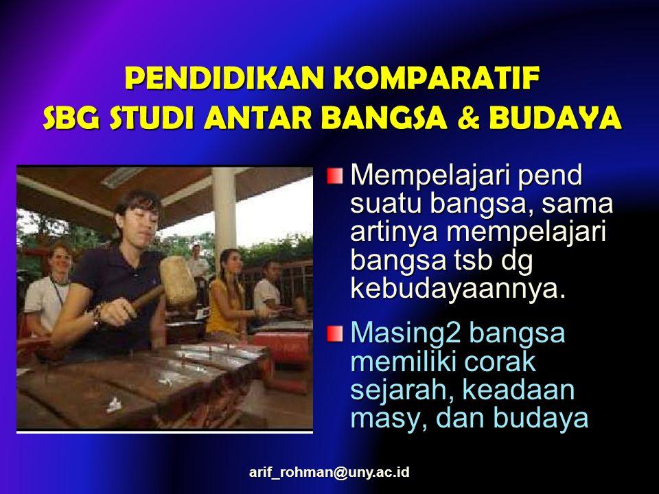 PENDIDIKAN KOMPARATIF SBG STUDI ANTAR BANGSA & BUDAYA