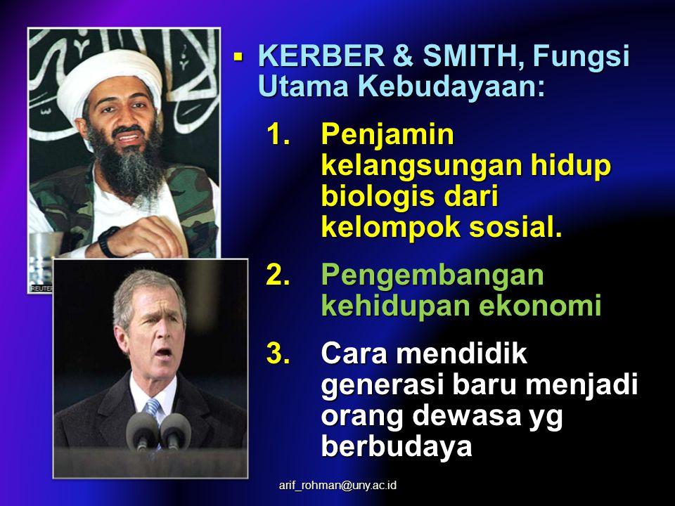 KERBER & SMITH, Fungsi Utama Kebudayaan:
