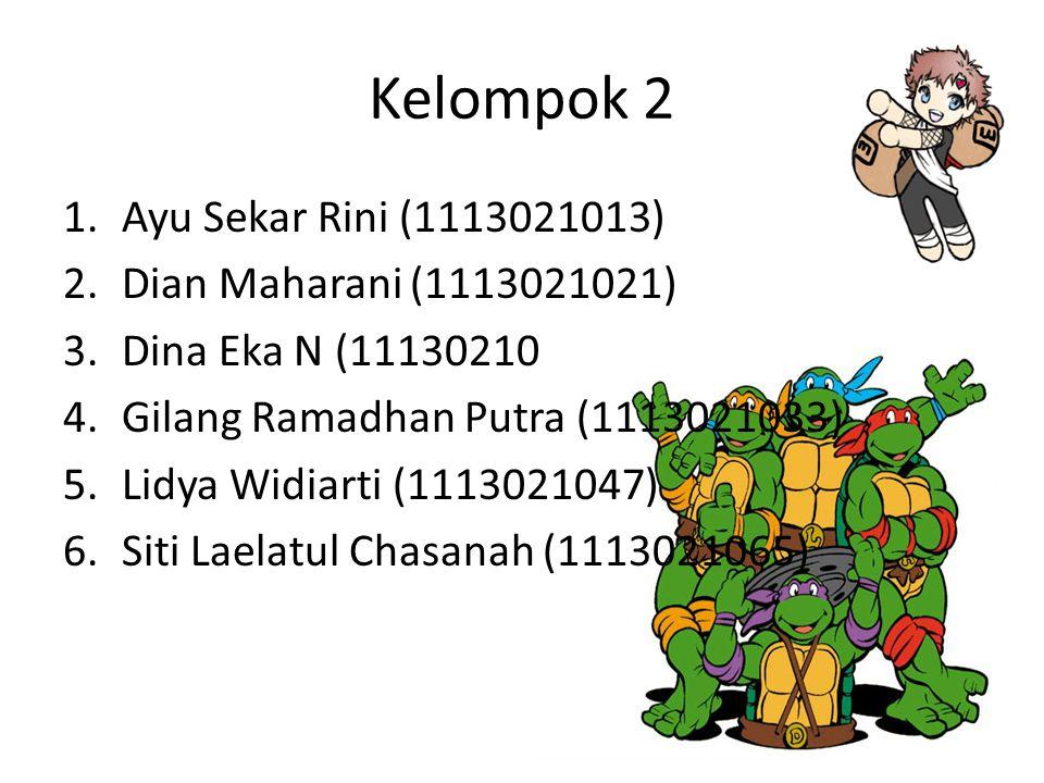Kelompok 2 Ayu Sekar Rini (1113021013) Dian Maharani (1113021021)