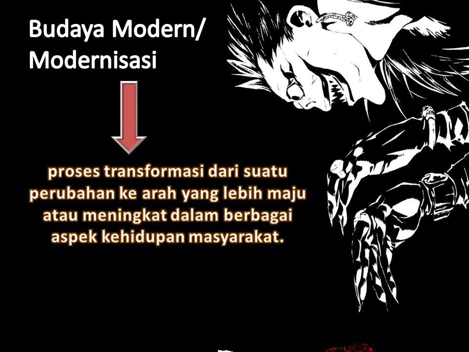 Budaya Modern/ Modernisasi
