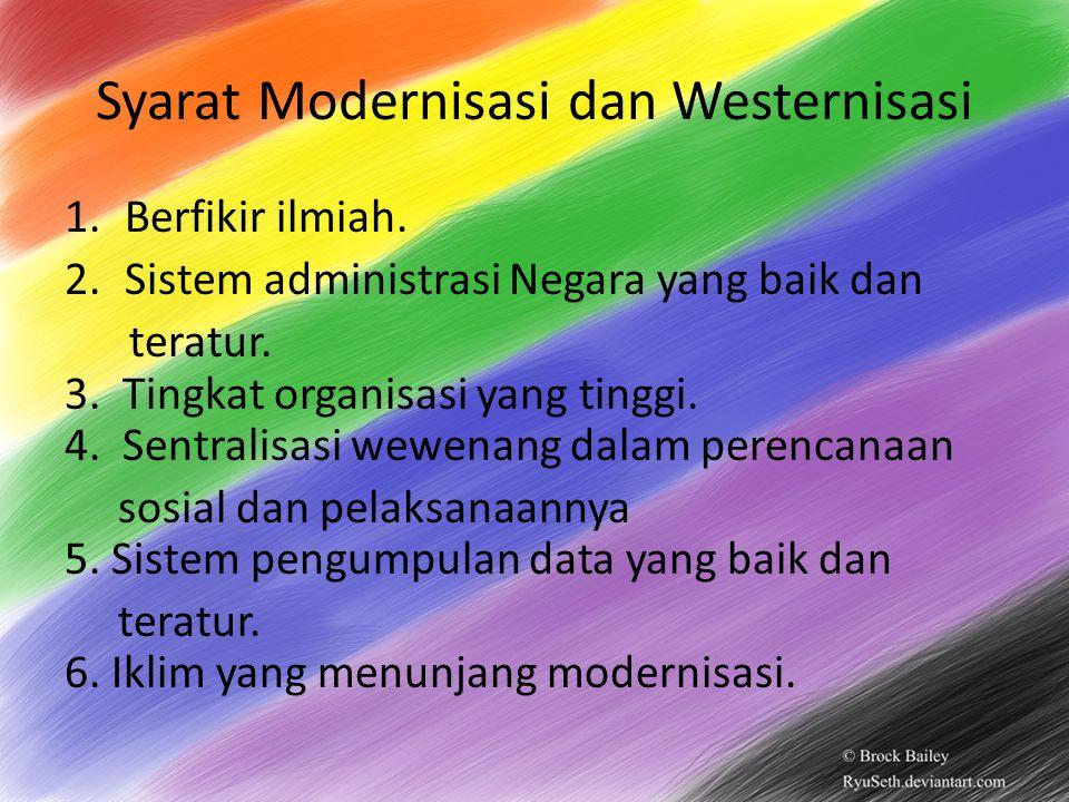 Syarat Modernisasi dan Westernisasi