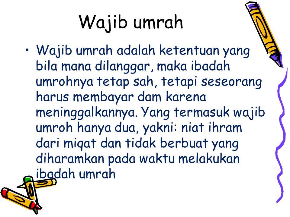 Wajib umrah