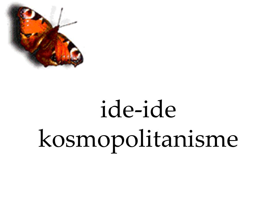ide-ide kosmopolitanisme