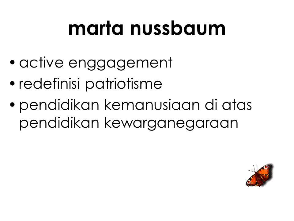 marta nussbaum active enggagement redefinisi patriotisme