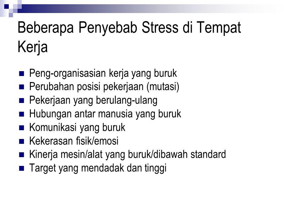 Beberapa Penyebab Stress di Tempat Kerja