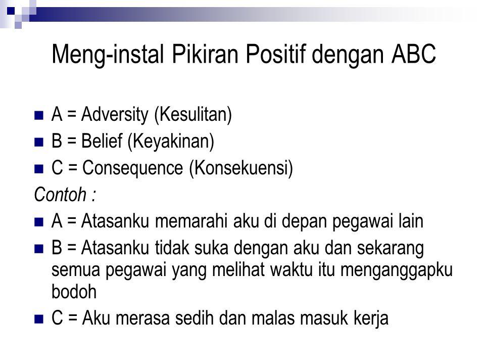 Meng-instal Pikiran Positif dengan ABC