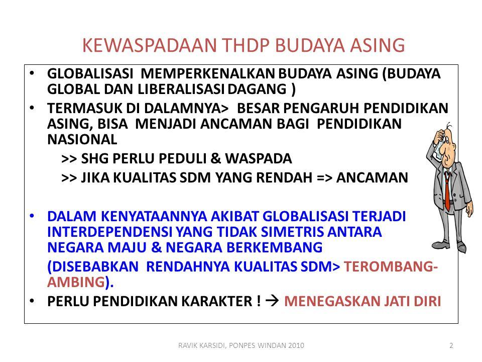 KEWASPADAAN THDP BUDAYA ASING