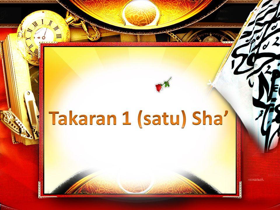 Takaran 1 (satu) Sha'
