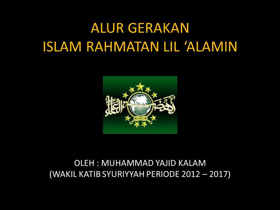 ALUR GERAKAN ISLAM RAHMATAN LIL 'ALAMIN