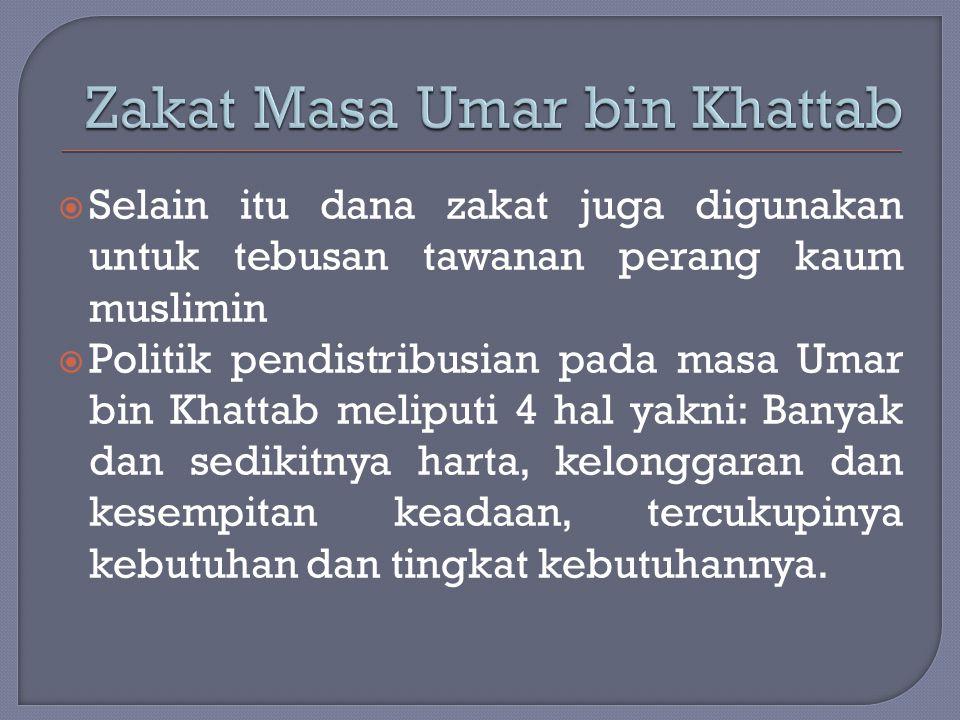 Zakat Masa Umar bin Khattab