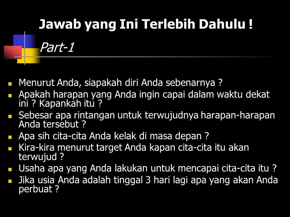 Jawab yang Ini Terlebih Dahulu ! Part-1
