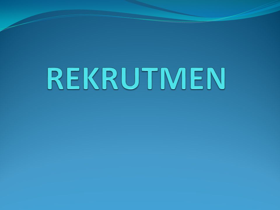 REKRUTMEN