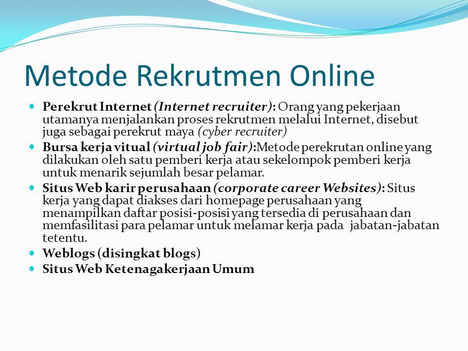 Metode Rekrutmen Online