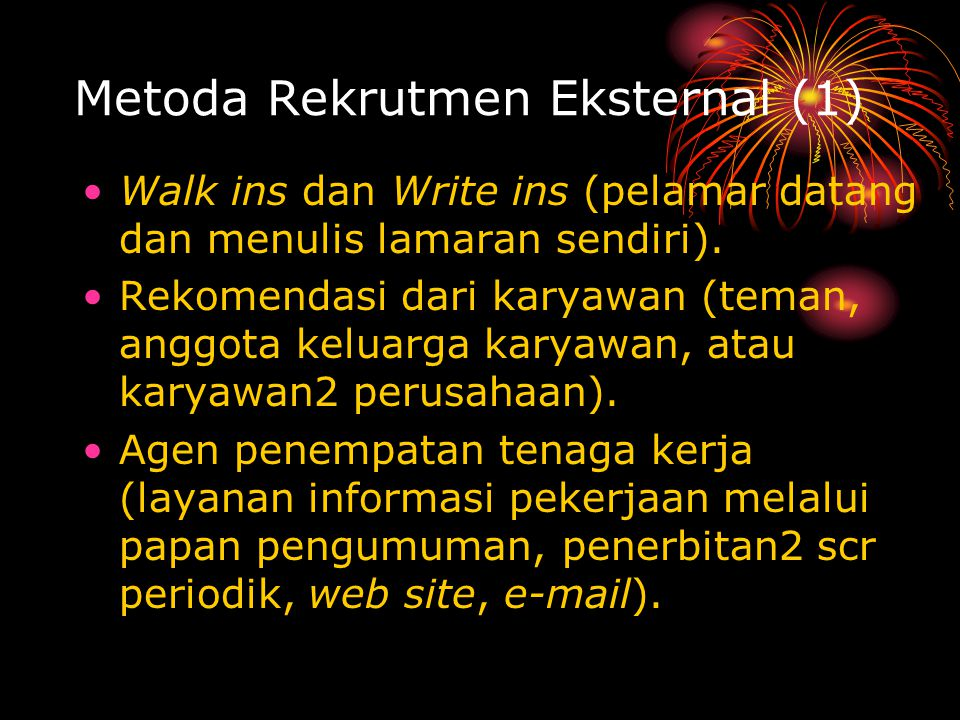 Metoda Rekrutmen Eksternal (1)