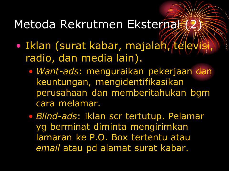 Metoda Rekrutmen Eksternal (2)