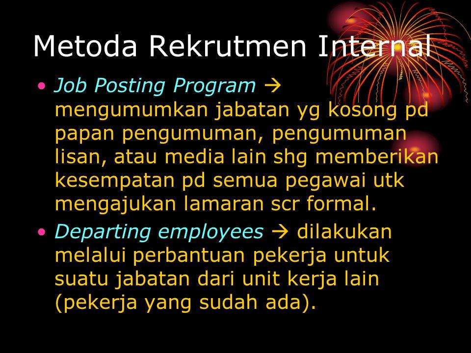 Metoda Rekrutmen Internal