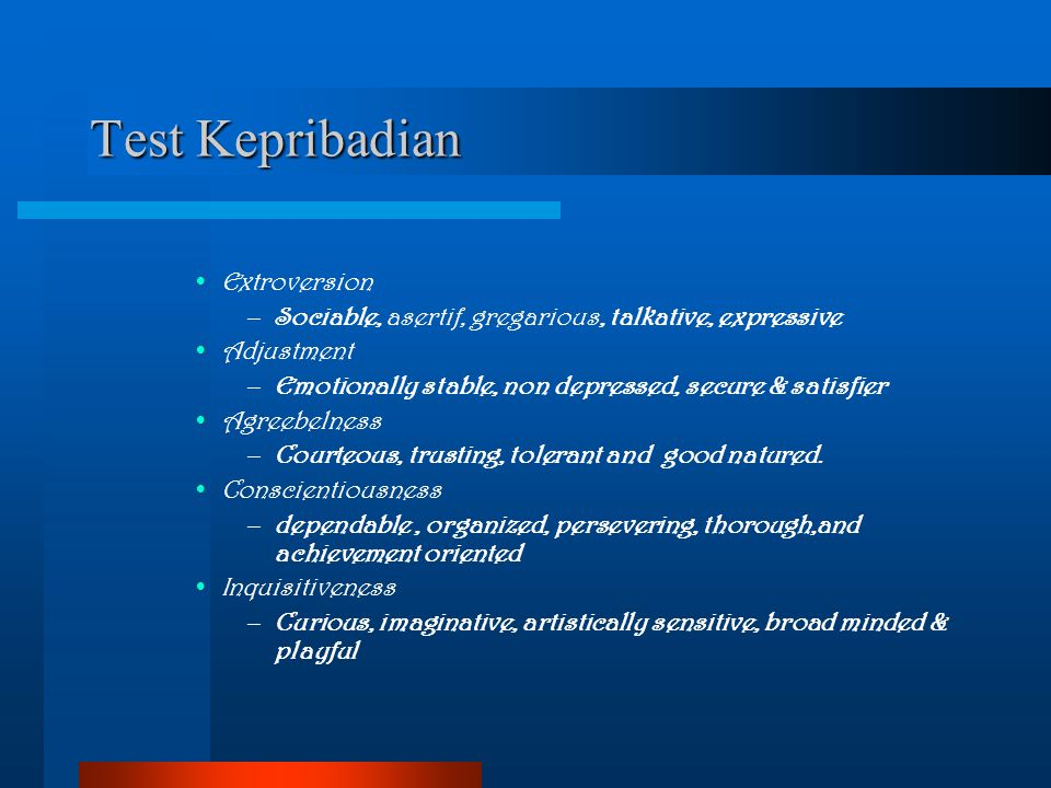 Test Kepribadian Extroversion