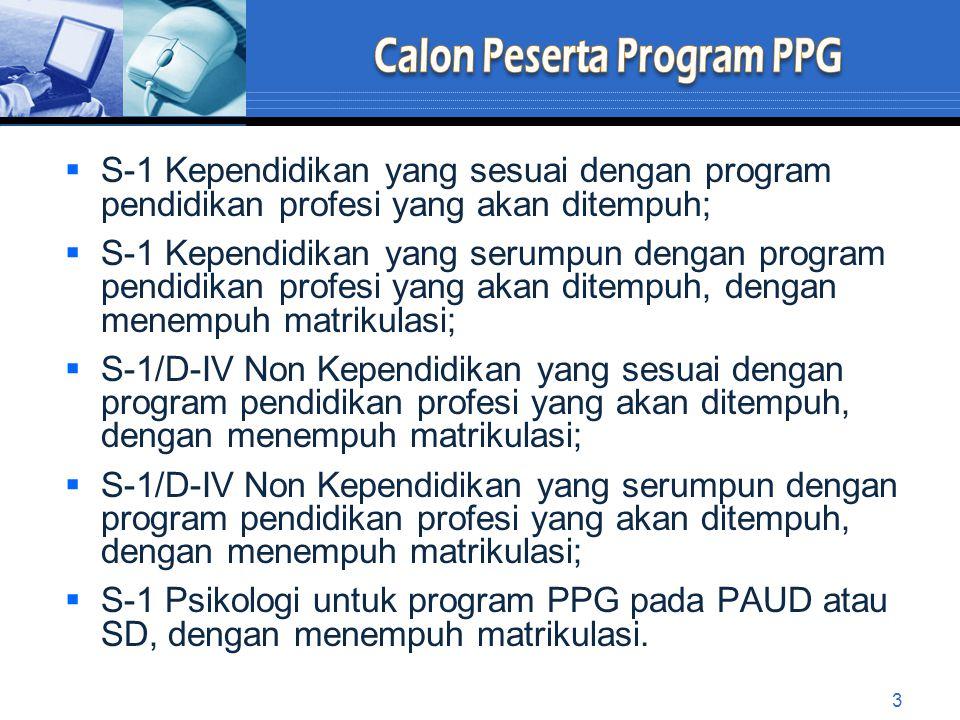 Calon Peserta Program PPG