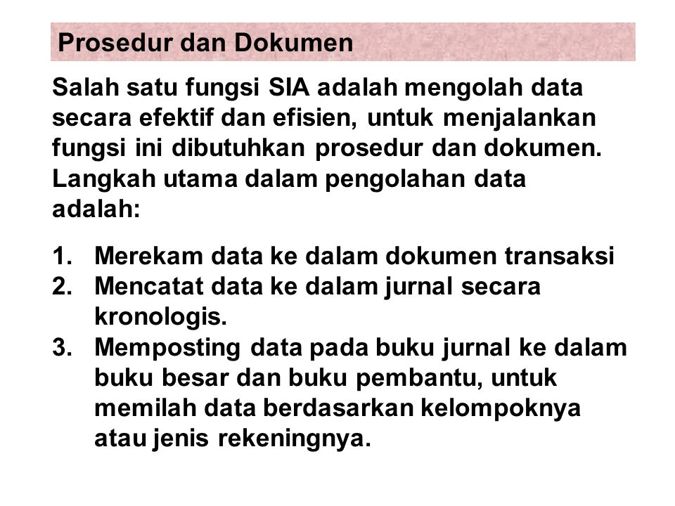 Prosedur dan Dokumen