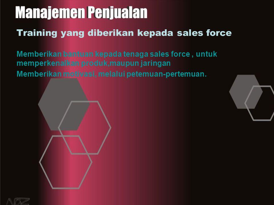 Training yang diberikan kepada sales force