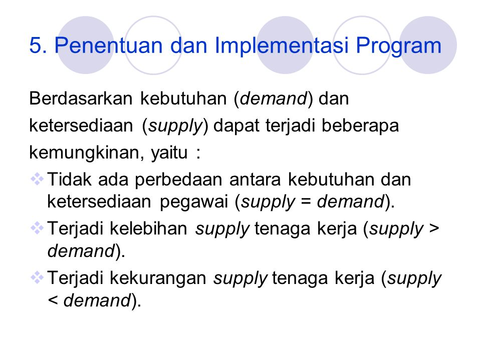 5. Penentuan dan Implementasi Program