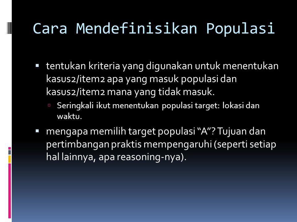 Cara Mendefinisikan Populasi