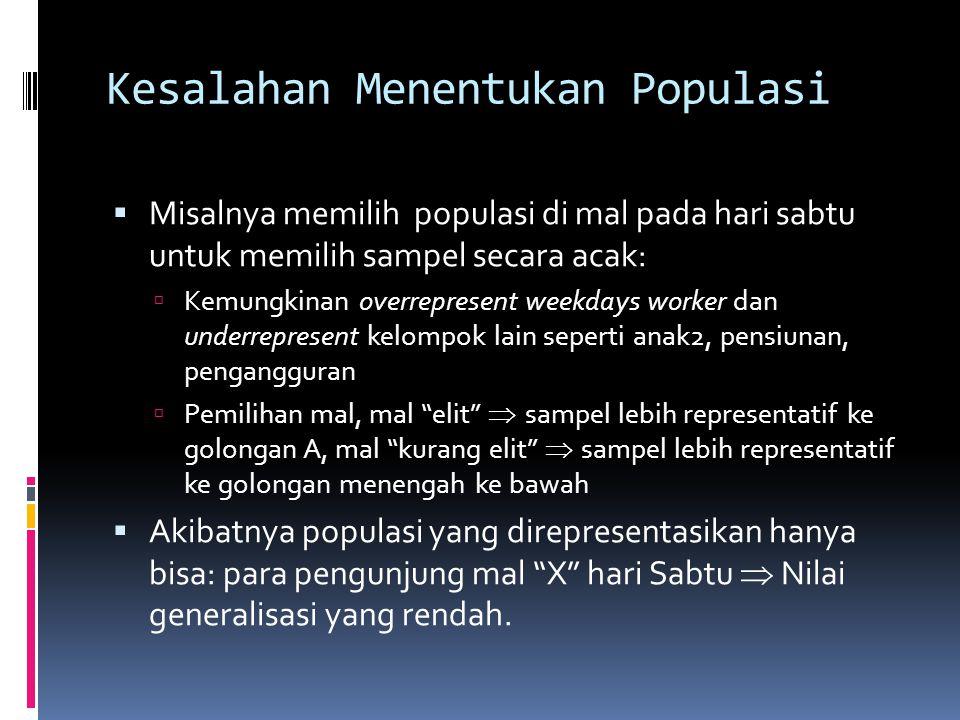 Kesalahan Menentukan Populasi
