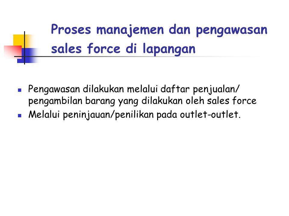 Proses manajemen dan pengawasan sales force di lapangan
