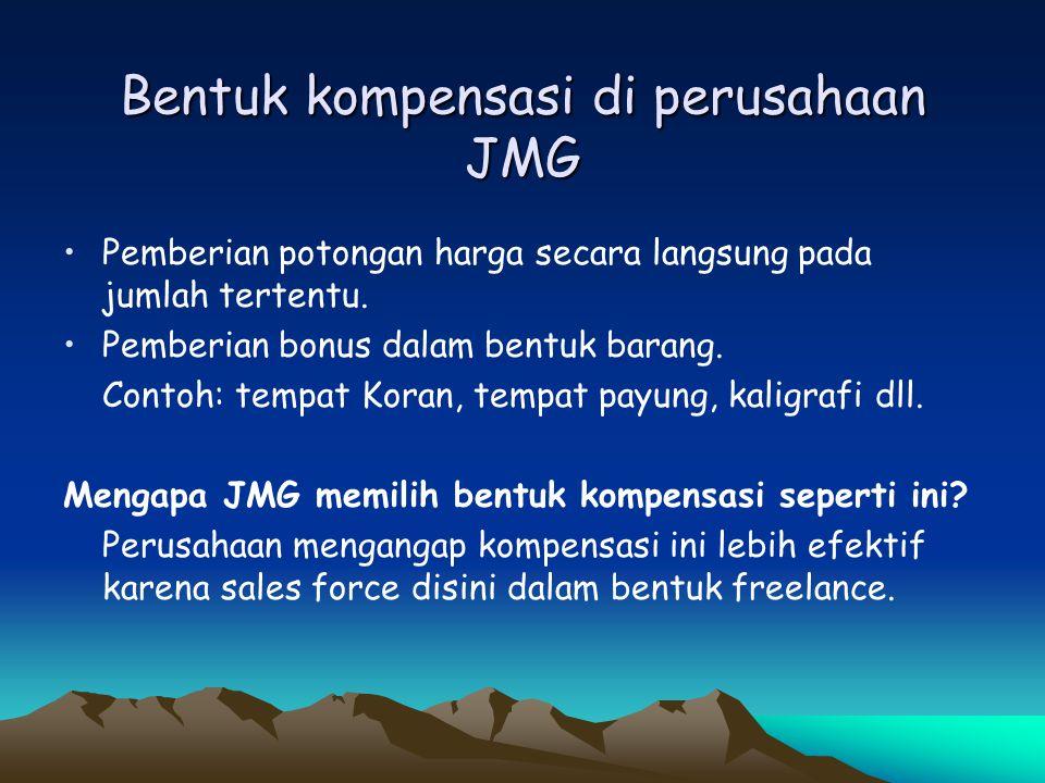 Bentuk kompensasi di perusahaan JMG