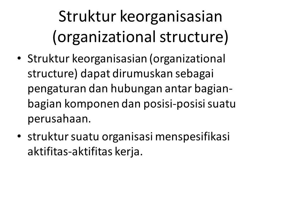 Struktur keorganisasian (organizational structure)