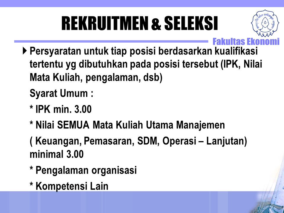 REKRUITMEN & SELEKSI
