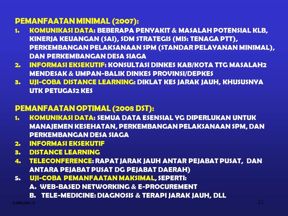 PEMANFAATAN MINIMAL (2007):