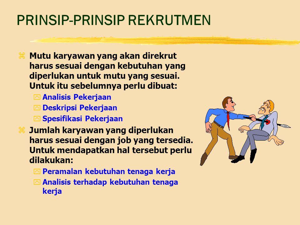 PRINSIP-PRINSIP REKRUTMEN