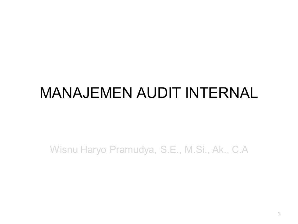 MANAJEMEN AUDIT INTERNAL