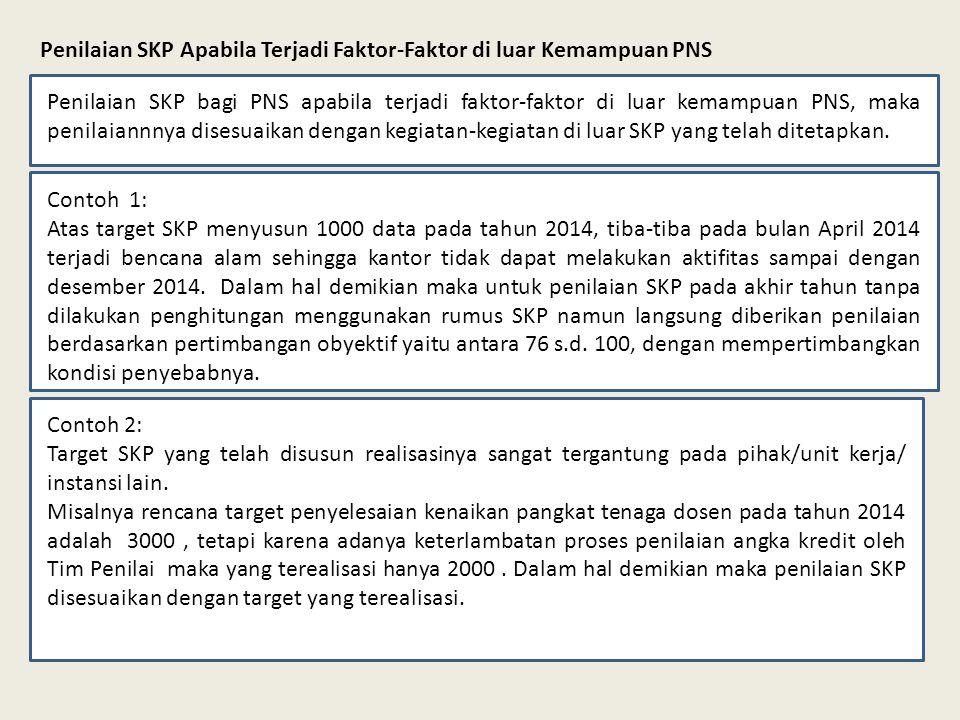Penilaian SKP Apabila Terjadi Faktor-Faktor di luar Kemampuan PNS