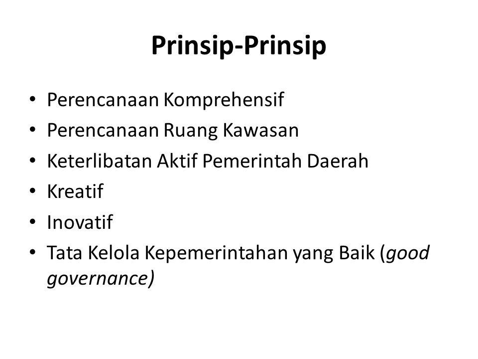 Prinsip-Prinsip Perencanaan Komprehensif Perencanaan Ruang Kawasan
