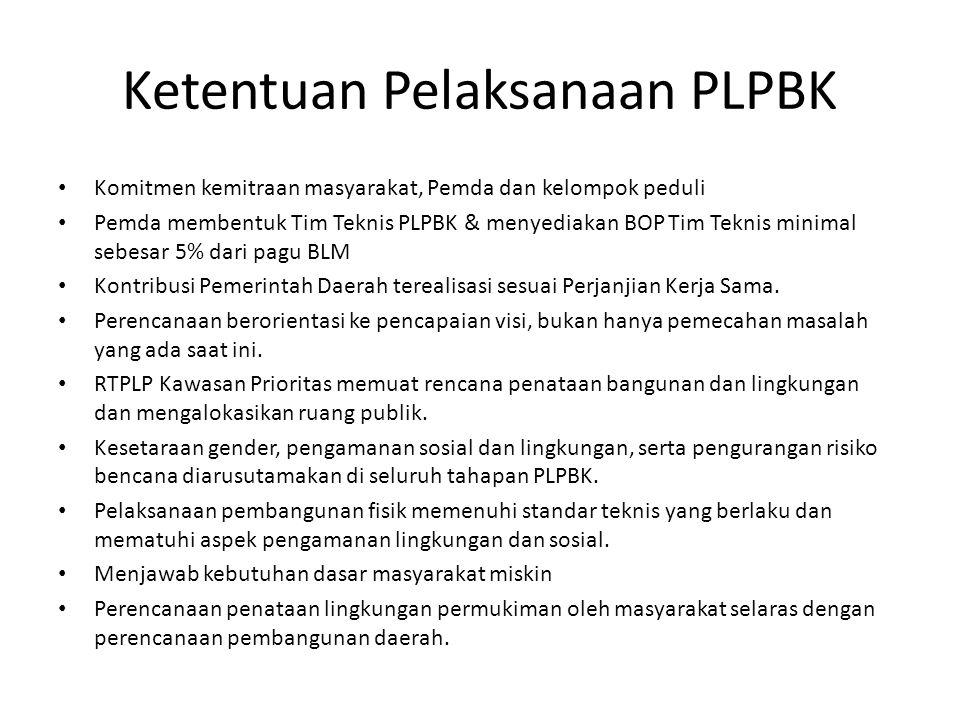 Ketentuan Pelaksanaan PLPBK