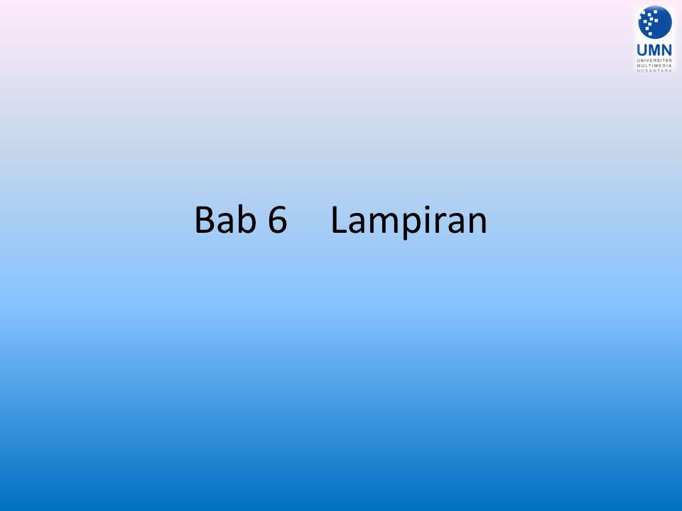 Bab 6 Lampiran