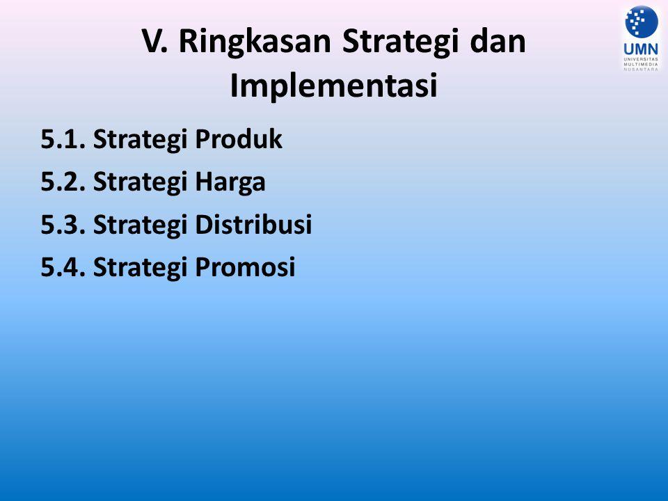 V. Ringkasan Strategi dan Implementasi